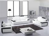 Insieme sezionale bianco e nero della mobilia del salone del sofà