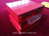 Perfil de aluminio de la protuberancia de las aduanas rojas revestidas del polvo para la industria