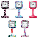 El reloj más nuevo de las enfermeras del leopardo del silicón de las broches del reloj de la enfermera