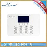 Sistema de alarma elegante sin hilos portable de la seguridad del ladrón del LCD