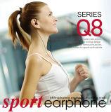 Écouteur neuf de sport pour exécuter avec modèle transparent bas profond de haute fidélité de MIC le seul