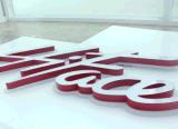 Mini signe de publicité lumineux acrylique fait sur commande de /3D de signe de cadre léger de la lettre DEL de la Manche avec