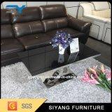 Table basse de marbre de noir de meubles d'hôtel de miroir