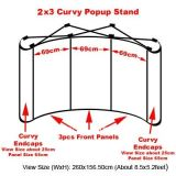 2X3 Curvy Shape Pop up Display Booth Stand pour exposition