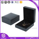 De Houten Gift die van het Leer van het document Vakje het Van uitstekende kwaliteit van Juwelen verpakken