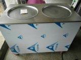 二重鍋の揚げ物のアイスクリーム機械タイ