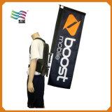 Teardrop-Verzerrung-strickende Polyester-Rucksack-Beutel-Markierungsfahne (A-m123)