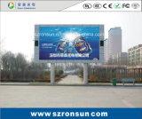 P8mm impermeabilizan la publicidad de la visualización de LED al aire libre a todo color de la cartelera
