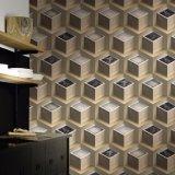 Papier peint bon marché de vinyle du modèle moderne 3D de PVC Waperproof Wallcovering des prix pour le décor intérieur