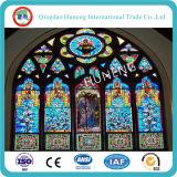 tipo de cristal decorativo iglesia manchada de 3-6m m de cristal