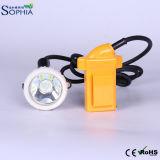 Waterproof 3ah Miners Capuchon de sécurité Lampe LED avec batterie Rechageable