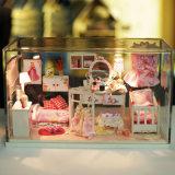 Mini modelo de madera hecho a mano de la casa de muñeca