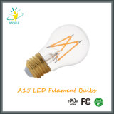 Edison LED filamento A15 6W E26 / E27 regulable LED de alta potencia