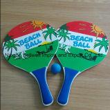 Insieme di legno di legno professionale della racchetta della racchetta di tennis della spiaggia