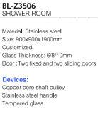 Acero inoxidable baño de ducha de esquina Habitación (BL-Z3506)