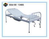 (A-190) Toda la cama de hospital manual Double-Function Plástico-Pintada (con vaporizador) con el crisol de compartimiento