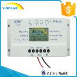 regulador/regulador solares del cargador de 12V/24V 30A para la Sistema Solar con el Ce y LCD T30