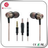 マイクロフォンが付いている極度の低音の金属の耳の昇進のイヤホーン
