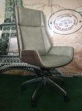 Cadeira de couro de pintura da cadeira do plutônio da cadeira do escritório do frame de madeira