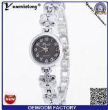 Nueva Ginebra muñeca de señora reloj de la placa de oro de los relojes de la manera del reloj del cuarzo de la aleación del Rhinestone de Yxl-408 2016