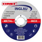 Roues abrasives à centre dépressif pour métal 116 * 6.4 * 22.2mm