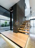 Escalera recta para la decoración interior con el paso de progresión de madera