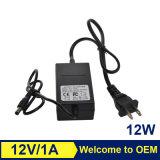 cargador de batería externo de la computadora portátil del adaptador de la corriente ALTERNA de la computadora portátil del OEM 12W 12V 1A