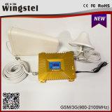 2g 3G 4G GSM / WCDMA 900 / 2100MHz Amplificador de sinal móvel com antena