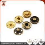 Botón simple del metal del broche de presión del individuo de Monocolor