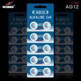 Батарея клетки кнопки OEM AG12 1.5V фабрики Wama с новым пакетом