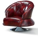 現代上の穀物の本革のソファーの椅子(C001)