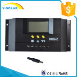 controlador do carregador 30A/regulador solares 12V 24V para o sistema do picovolt com indicador Cm3024 do LCD