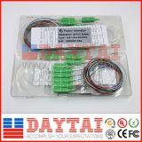 12 divisor de fibra óptica estándar del PLC del color 1X8
