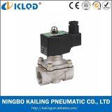 2wb digita l'elettrovalvola a solenoide fluida con il corpo 24V dell'acciaio inossidabile