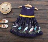 夏のスカートの子供の女の子に着せている子供は服を印刷した