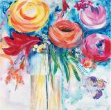 Dekorative recht bunte Blumen-handgemachtes Ölgemälde auf Segeltuch