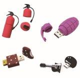 Kundenspezifischer Laufwerk USB-Stock des Metallwunder-3D greller