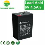 Wartungsfreie 6V 4.5ah nachladbare Batterie