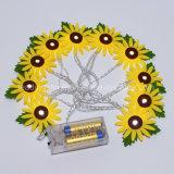 [نون-ووفن] بناء [سون] زهرة مرنة و [إإكستندبل] [توينكلينغ] خيط أضواء مع داخليّة