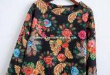 Zwei Farben-Polyester-Frauen-Kleid