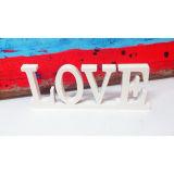 Cartas derechas de madera decorativas caseras antiguas de madera de la palabra