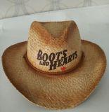 Chapéu de palha do vaqueiro do Mens dos homens do chapéu da ressaca da palha de Canadá relativo à promoção/barato chapéu
