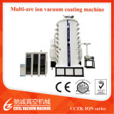 Vakuumbeschichtung-Maschine des Cczk Edelstahl-Höhenruder-Blatt-Titangoldgroße PVD, Zinn-Goldanstrichsystem