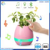 Bac de fleur intelligent de musique de contact du haut-parleur DEL de Bluetooth