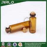 5ml 10ml de AmberKruik van het Glas van de Kleur met Cork de Flessen van de Essentiële Olie van het Glas van de Kurk