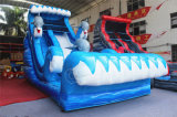 2017 Slide delfín de la diversión de agua inflable de partido de los niños