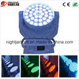 Luz principal movente da lavagem do diodo emissor de luz do zoom de Nj-L36A 36*10W RGBW