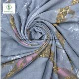 Trデジタルの印刷のリボンのヒョウの綿のスカーフのショール