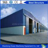 非常に良質の経済的な予算のプレハブの鋼鉄倉庫中国製