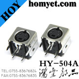 Terminal Minides Lärm 6p Kontaktbuchse-unterschiedliches video Verbinder-S (HY-506T)